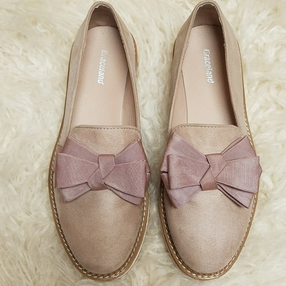 d879950012bf7 graceland Shoes - Graceland Bow Loafer Suede Cork Sole, sz 36